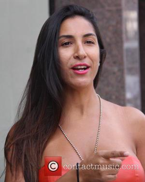 Liana Mendoza - American Horror Story actress, Liana Mendoza out and about in Beverly Hills wearing a red dress and...
