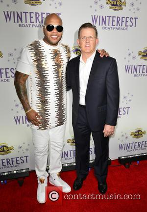 Flo Rida , Bill Wright - Flo Rida at a press conference introducing the 2015 Seminole Hard Rock Winterfest Boat...