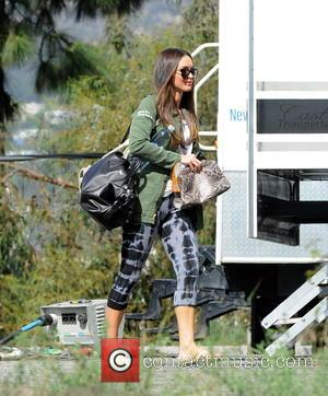Megan Fox - Actress Megan Fox spotted for the first time on the set of