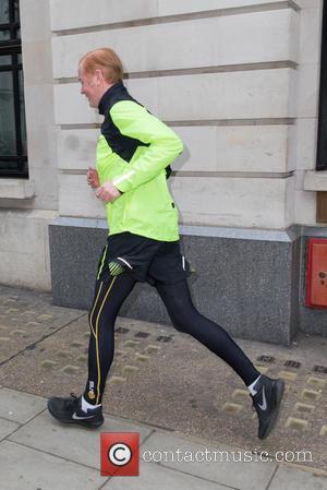 Chris Evans - Chris Evans out for jog near the BBC Radio 2 studios at BBC Portland Place - London,...