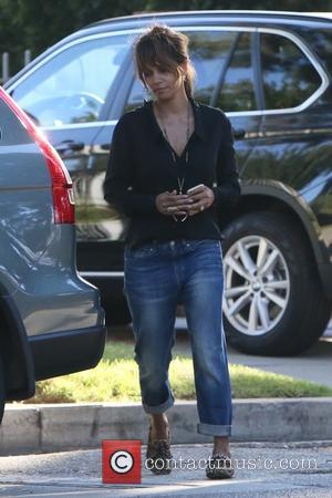 Halle Berry - Halle Berry laughs as she shares a joke with daughter Nahla seen out and about in Beverly...