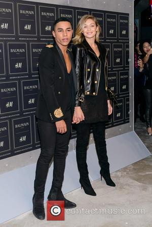 Olivier Rousteing and Gigi Hadid