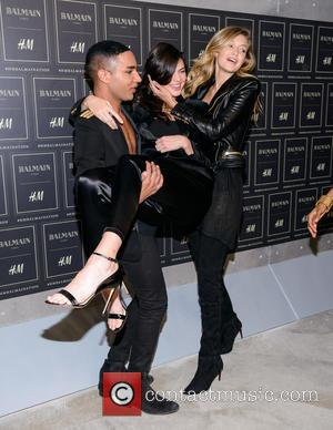 Olivier Rousteing, Kendall Jenner and Gigi Haded
