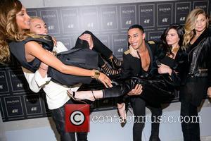 Olivier Rousteing, Kendall Jenner, Gigi Haded and Jourdan Dunn