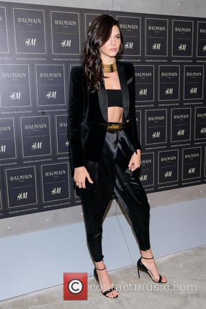 Kendall Jenner - Red carpet arrivals at the Balmain x H&M collection launch - New York, New York, United States...