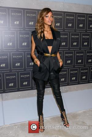 Jourdan Dunn - Red carpet arrivals at the Balmain x H&M collection launch - New York, New York, United States...