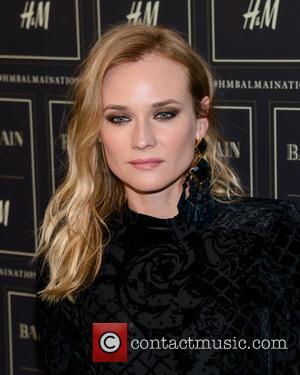 Diane Kruger - Red carpet arrivals at the Balmain x H&M collection launch - New York, New York, United States...
