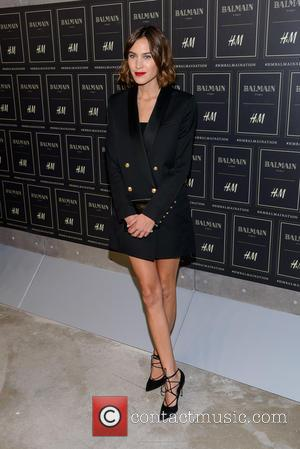 Alexa Chung - Red carpet arrivals at the Balmain x H&M collection launch - New York, New York, United States...