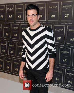 Zachary Quinto - Red carpet arrivals at the Balmain x H&M collection launch - New York, New York, United States...