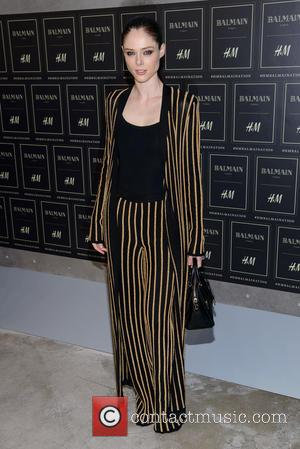 Coco Rocha - Red carpet arrivals at the Balmain x H&M collection launch - New York, New York, United States...