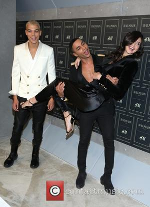 Kendall Jenner - The BALMAIN X H&M Collection Launch at 23 Wall Street - New York, New York, United States...