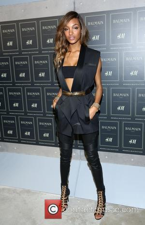 Jourdan Dunn - The BALMAIN X H&M Collection Launch at 23 Wall Street - New York, New York, United States...
