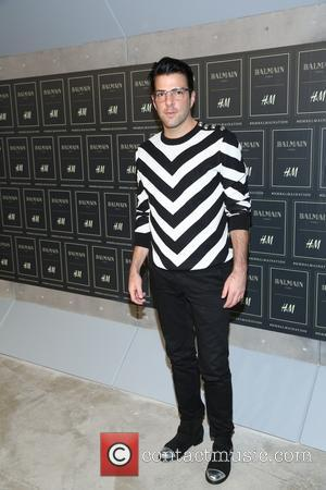 Zachary Quinto - The BALMAIN X H&M Collection Launch at 23 Wall Street - New York, New York, United States...
