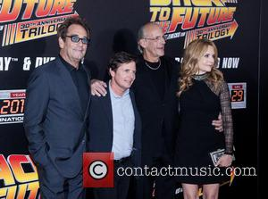 Huey Lewis, Michael J. Fox, Christopher Lloyd and Lea Thompson