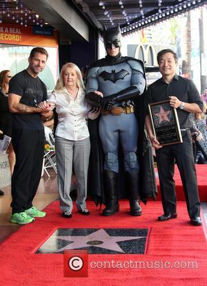 Zack Snyder, Elizabeth Sanders, Batman , Jim Lee - Batman creator Bob Kane posthumously receive the star on the Hollywood...