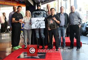 Zack Snyder, Elizabeth Sanders, Batman, Jim Lee , Guests - Batman creator Bob Kane posthumously receive the star on the...