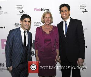Ben Cohen, Karin Cook , Ed Milliband - 3rd Annual Pink News Awards at Foreign & Commonwealth Office - London,...
