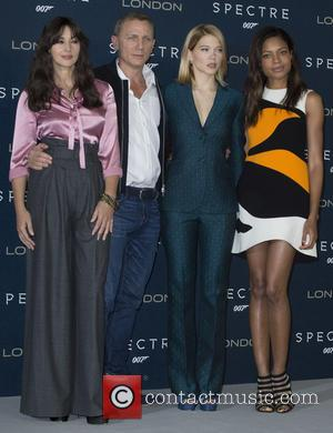 Monica Bellucci, Daniel Craig, Lea Seydoux and Naomi Harris