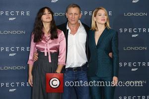 Monica Bellucci, Daniel Craig , Lea Seydoux - James Bond Spectre photocall - Arrivals - London, United Kingdom - Thursday...