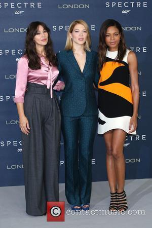 Monica Bellucci, Lea Seydoux , Naomie Harris - James Bond Spectre photocall - Arrivals - London, United Kingdom - Thursday...