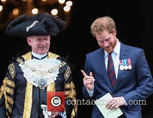 Prince Harry and Lord Mayor Alan Yarrow
