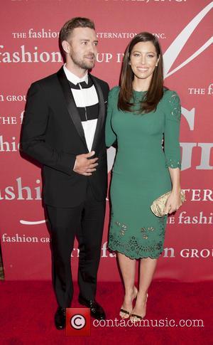 Justin Timberlake and Jessica Biehl