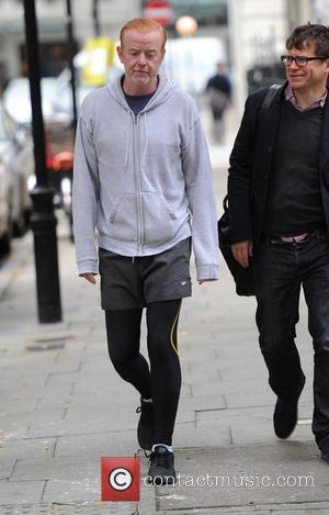 Chris Evans - Chris Evans leaving the BBC Radio 2 studios in London - London, United Kingdom - Thursday 22nd...
