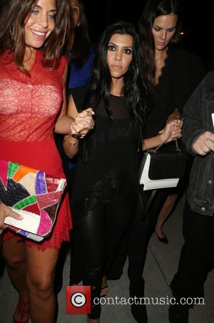 Kourtney Kardashian - Exhibition Opening of Brian Bowen Smith's Metallic Life_Departures at De Re Gallery - Los Angeles, California, United...