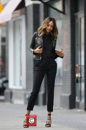 Jourdan Dunn - Jourdan Dunn poses during an Express catalogue photo shoot in Manhattan's Meatpacking District at Meatpacking District -...