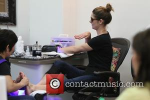 Ashley Greene - Ashley Greene gets pampered at Beverly Hills Nail Design at Beverly Hills - Los Angeles, California, United...