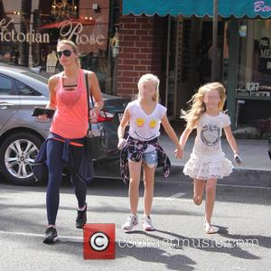 Alex Gerrard, Lexie Gerrard , Lilly-Ella Gerrard - Alex Gerrard and her daughters Lexie and Lilly-Ella get their nails done...