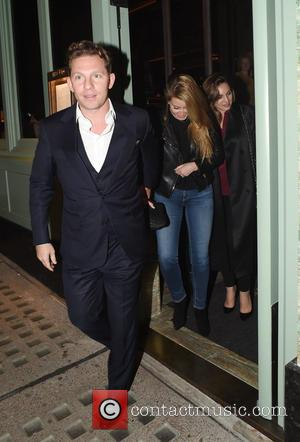 Kelly Brook, Nick Candy , Holly Valance - Kelly Brook seen out at dinner with Holly Valance and husband Nick...