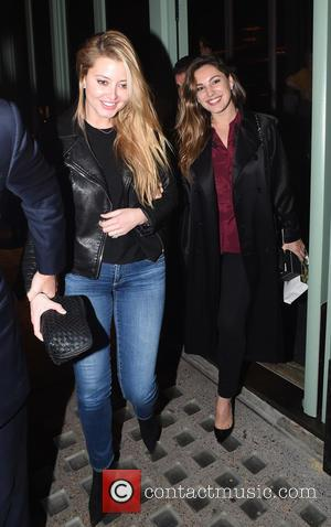Kelly Brook , Holly Valance - Kelly Brook seen out at dinner with Holly Valance and husband Nick Candy. Kelly...