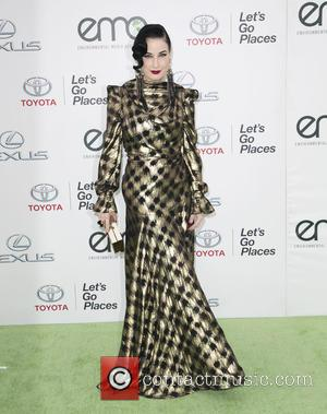 Dita Von Teese - Celebrities attend 25th annual Environmental Media Awards at Warner Brother Studios Lot. at Warner Brother Studios...