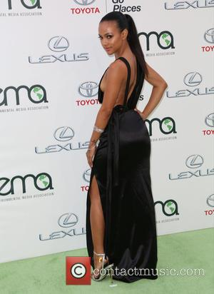 Karrueche Tran - Celebrities attend 25th annual Environmental Media Awards at Warner Brother Studios Lot. at Warner Brother Studios Lot...
