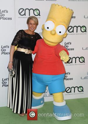 Yeardley Smith and Bart Simpson