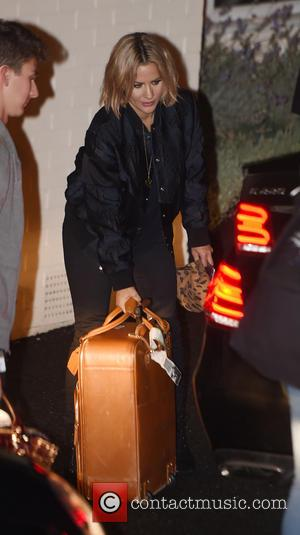 Caroline Flack - X Factor 2015 contestants and presenters leaving Fountain studios after the first Live Show at x factor...