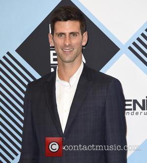 Novak Djokovic - The 2015 MTV EMAs (European Music Awards) held at the Mediolanum Forum in Milan - Press Room...