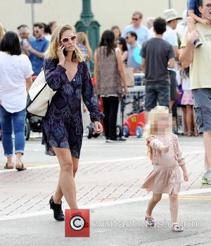 Rebecca Gayheart , Georgia - Actress Rebecca Gayheart enjoys a sunday afternoon with husband Eric Dane and their 2 daughters...