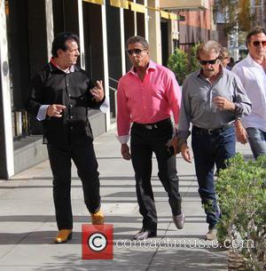 Sylvester Stallone, Chuck Zito , Frank Stallone - Sylvester Stallone talking a stroll with Chuck Zito and his brother Frank...