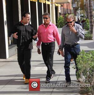 Sylvester Stallone , Chuck Zito - Sylvester Stallone talking a stroll with Chuck Zito and his brother Frank in Beverly...