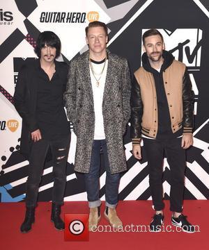 Macklemore & Ryan Lewis, Macklemore , Ryan Lewis - The 2015 MTV EMAs (European Music Awards) held at the Mediolanum...
