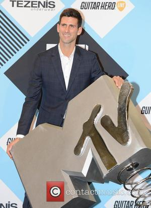 Novak Djokovic - The 2015 MTV EMAs (European Music Awards) held at the Mediolanum Forum in Milan - Arrivals -...