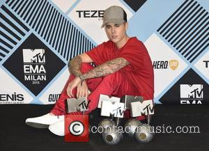 Justin Bieber - The 2015 MTV EMAs (European Music Awards) held at the Mediolanum Forum in Milan - Arrivals -...