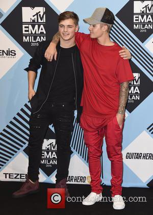 Justin Bieber , Martin Garrix - The 2015 MTV EMAs (European Music Awards) held at the Mediolanum Forum in Milan...