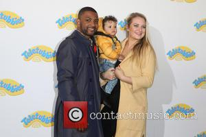 JB Gill, wife Chloe , son Ace Jeremiah - World Premiere of Teletubbies TV series for CBeebies held at the...