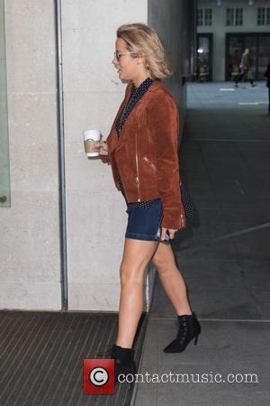 Caroline Flack - Caroline Flack pictured arriving at the Radio 1 studio to appear as a guest on the Nick...