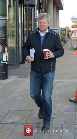 Adrian Chiles - Celebrities spotted out and about at MediaCityUK - Manchester, United Kingdom - Monday 26th October 2015