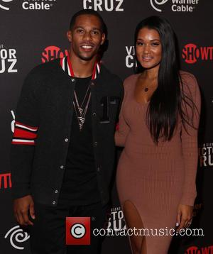 VICTOR CRUZ , Elaina Watley - Screening of 'I Am Giant: Victor Cruz' at Crosby Street Hotel - Arrivals -...