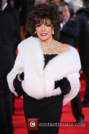 Joan Collins - James Bond Spectre World Premiere held at Royal Albert Hall - Arrivals at Royal Albert Hall -...